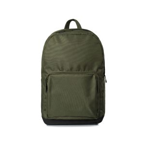 green metro backpack with large front zippered pocket