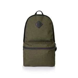 promotional green day logo backpack with large front zippered pocket