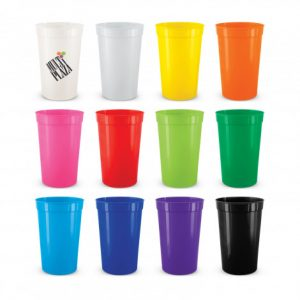 selection of promotional stadium cups