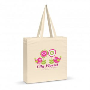 large carnaby cotton shoulder tote with matching long handles and branded logo