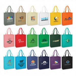 wide selection of promotional meduim size kira tote bag with matching carry handles and custom printed company logo