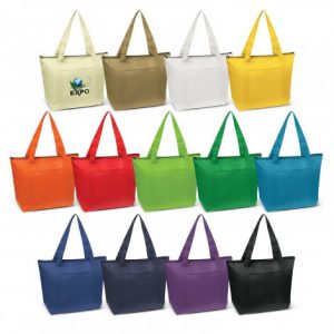 selection of large orca cooler bag with a zippered closure, a slip pocket on the front and long carry handles