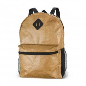 skin tone venture backpack with a twin mesh side pockets and a woven carry handle