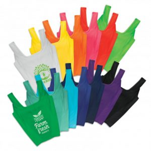 wide colour selection of promotional reusable shopping bag with custom printed company logo