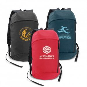 3 multicolour selection small Compact Backpack with custom logo