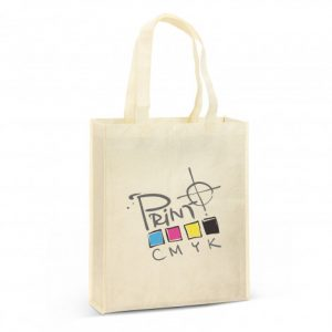 promotional avanti natural look tote bag with custom printed branded logo and matching coloured handle