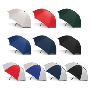 selection of multicolour promotional peros eagle umbrella with soft touch material handle