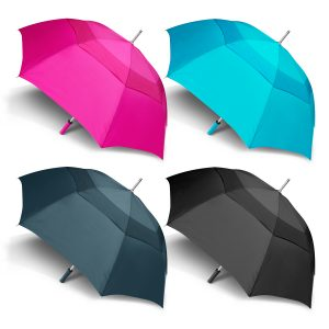 4 multicolour selection of promotional peros hurricane urban umbrella with matching colour rubberised hand grip