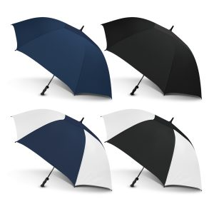 4 promotional extra large peros hurricane umbrella with moulded rubber hand grip
