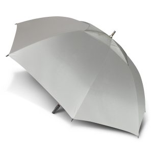 extra large silver peros hurricane sport umbrella with a moulded rubber hand grip