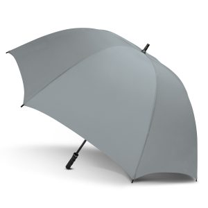 promotional large silver peros eagle umbrella with a soft touch hand grip
